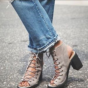 Free People x Jeffery Campbell Lux Minimal Lace Up